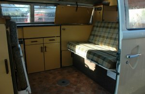 Harvest Moon Camper Hire interior