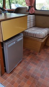Tangerine Dream Camper for hire new fridge